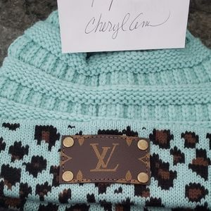 Upsycled Louis Vuitton CC Beanie